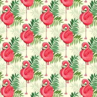 Kleurrijk flamingopatroon