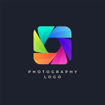 Kleurrijk fotografie logo