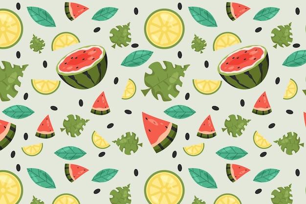 Kleurrijk fruitpatroon