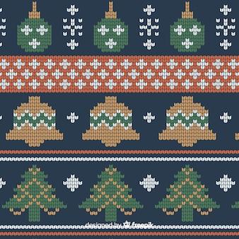 Kleurrijk gebreid kerstpatroon