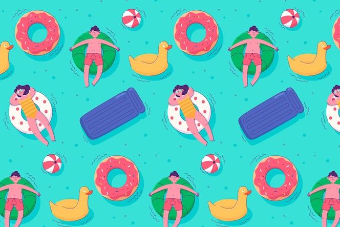 Kleurrijk geïllustreerd de zomerpatroon