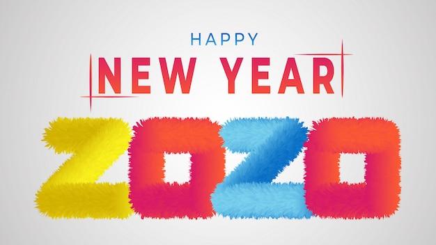 Kleurrijk gelukkig nieuwjaar 2020