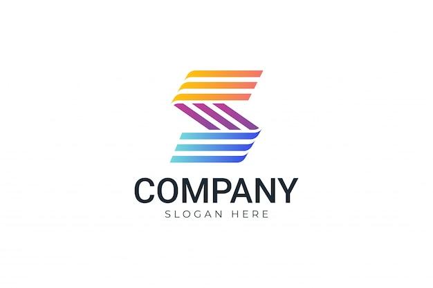 Kleurrijk gestreept logo