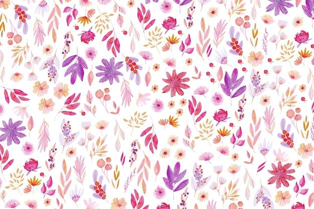Kleurrijk getekende bloemen achtergrond