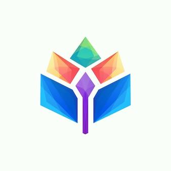 Kleurrijk geweldig abstract logo