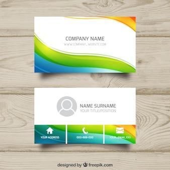 Kleurrijk golvend visitekaartje