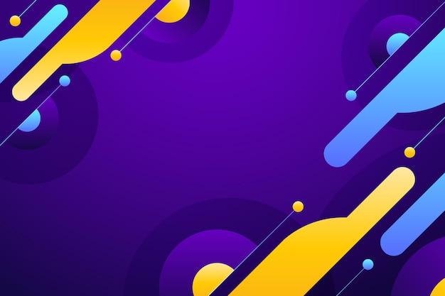 Kleurrijk gradiënt abstract behang