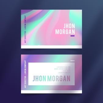 Kleurrijk gradiëntvisitekaartje