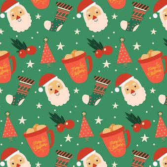 Kleurrijk grappig kerstpatroon