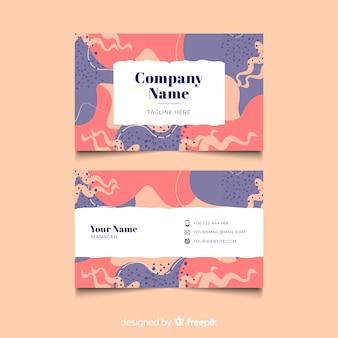 Kleurrijk hand geschilderd visitekaartje