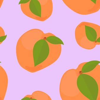 Kleurrijk hand getrokken abrikozenpatroon