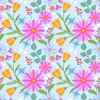 Kleurrijk hand getrokken bloemenpatroon