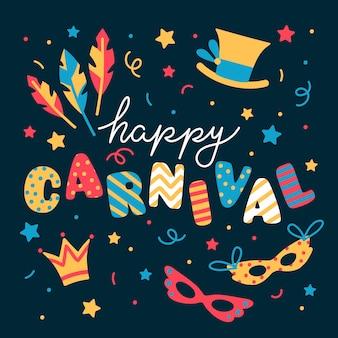 Kleurrijk hand getrokken carnaval
