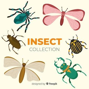 Kleurrijk hand getrokken insectenpak