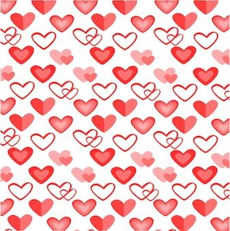 Kleurrijk hart naadloos patroon voor valentijnsdag
