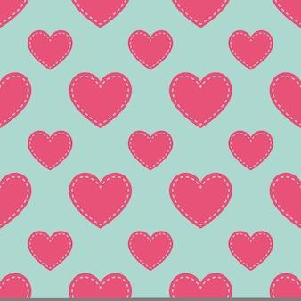 Kleurrijk hartenpatroon. valentijnsdag achtergrond voor vakantie sjabloon. creatieve en luxe stijlillustratie