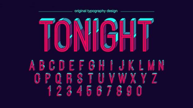 Kleurrijk helder retro typografieontwerp