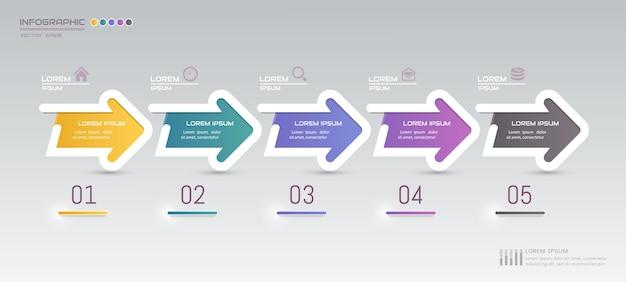 Kleurrijk infographic conceptontwerp