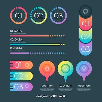 Kleurrijk infographic element vlak ontwerp