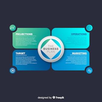 Kleurrijk infographic gradiënt vlak ontwerp