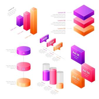 Kleurrijk isometrisch infographic concept