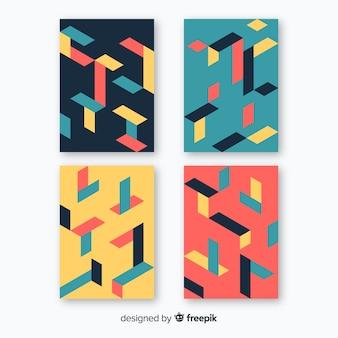 Kleurrijk isometrisch patroonbrochurepak