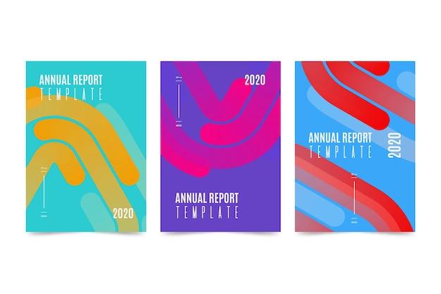 Kleurrijk jaarverslag sjabloonontwerp