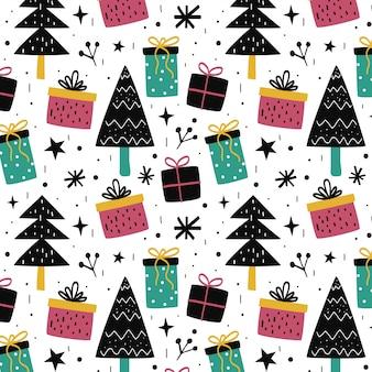 Kleurrijk kerstmis naadloos patroon