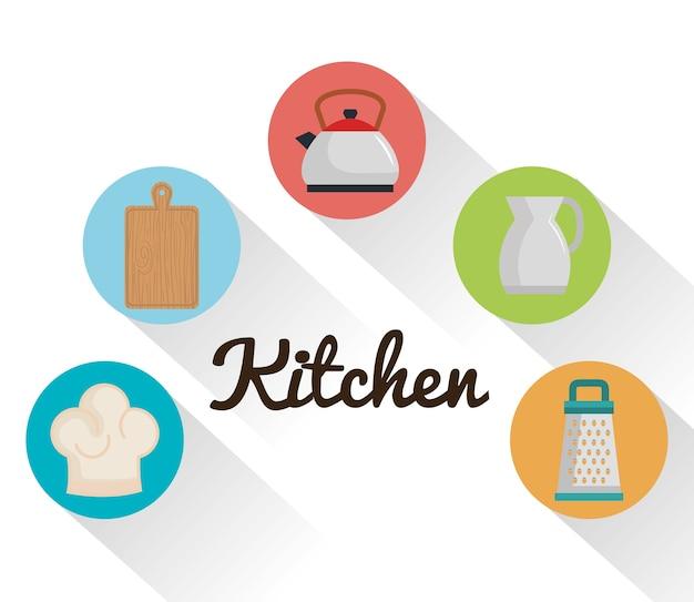 Kleurrijk keukengerei