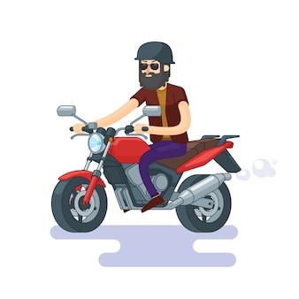 Kleurrijk klassiek motorfietsconcept