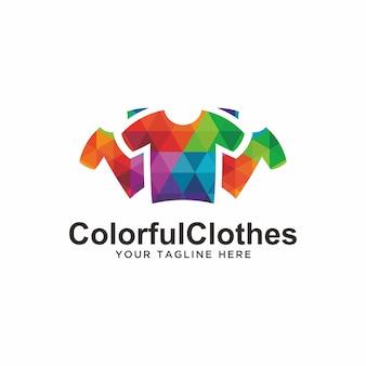 Kleurrijk kledinglogo. mode-logo
