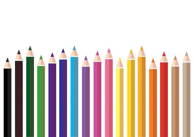 Kleurrijk kleurenpotlood