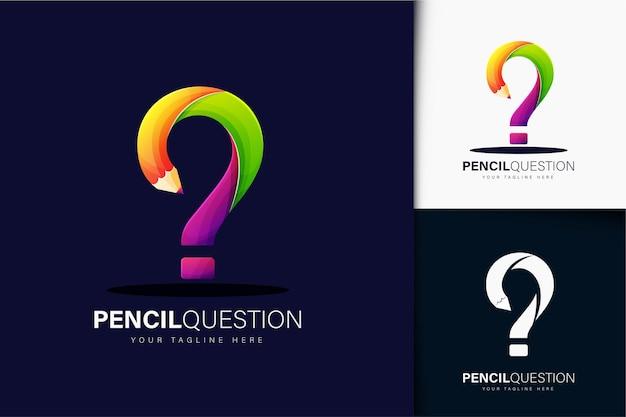 Kleurrijk kleurverloop potlood logo ontwerp