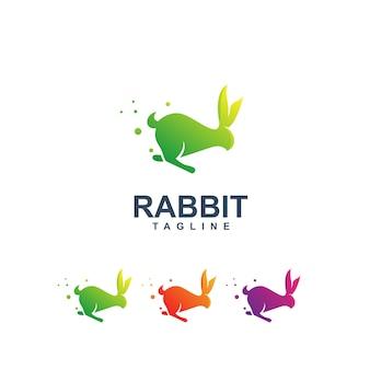 Kleurrijk konijn logo