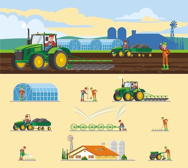 Kleurrijk landbouwconcept