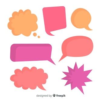 Kleurrijk leeg komisch toespraakbellenmengsel