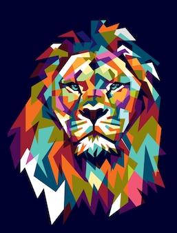 Kleurrijk leeuw Premium Vector