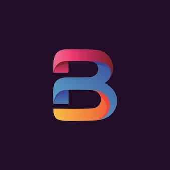 Kleurrijk letter b logo
