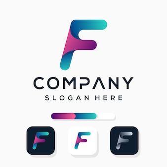 Kleurrijk letter f-logo ontwerp