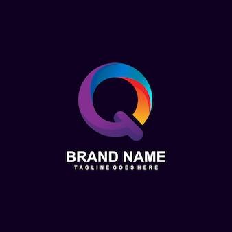 Kleurrijk letter q-logo