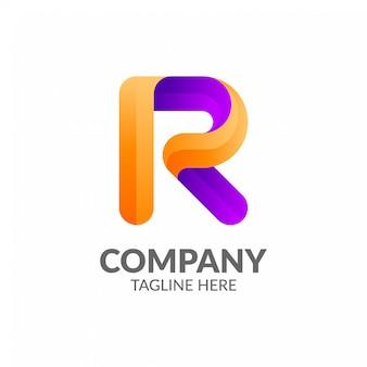 Kleurrijk letter r-logo