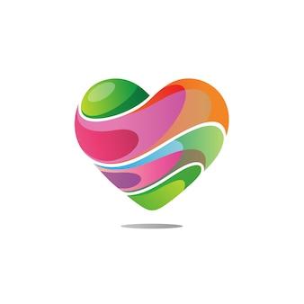Kleurrijk liefde-logo