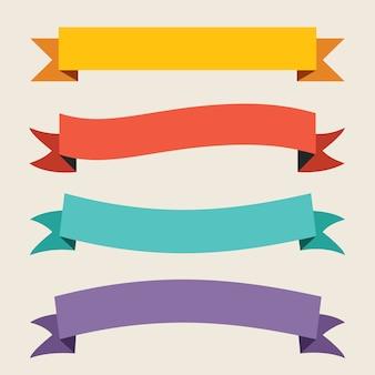 Kleurrijk lint en bannerontwerp