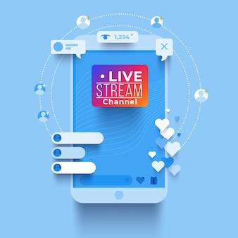 Kleurrijk livestream concept