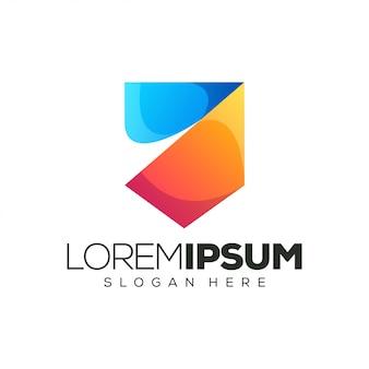 Kleurrijk logo-ontwerp wijnflesontwerp. illustratie