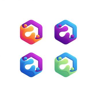 Kleurrijk logo