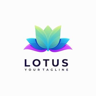 Kleurrijk lotus logo