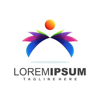 Kleurrijk lotus-logo