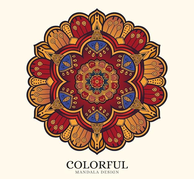 Kleurrijk luxe koninklijk mandala-ontwerp met mooi verloop