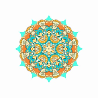 Kleurrijk mandala etnisch ornament